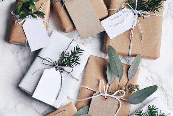 Inspiracion para envolver regalos con papel kraft