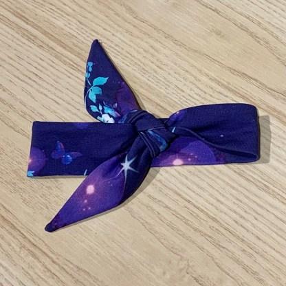 lune bandeau noeud papillons