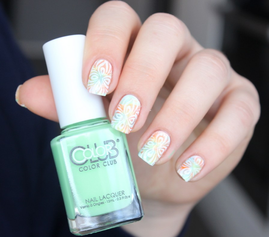 color club-ticket to paradise-nailart (2)