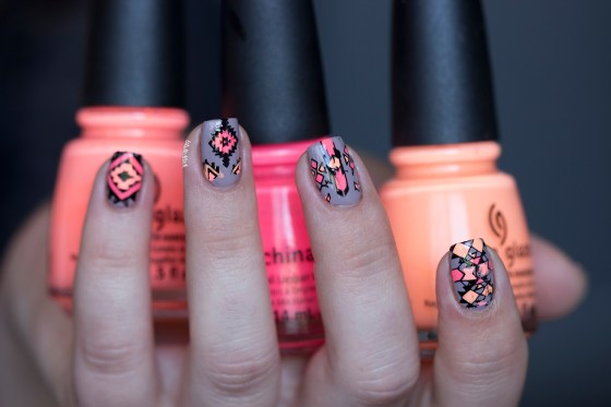 reverse stamping- nude and neon_1