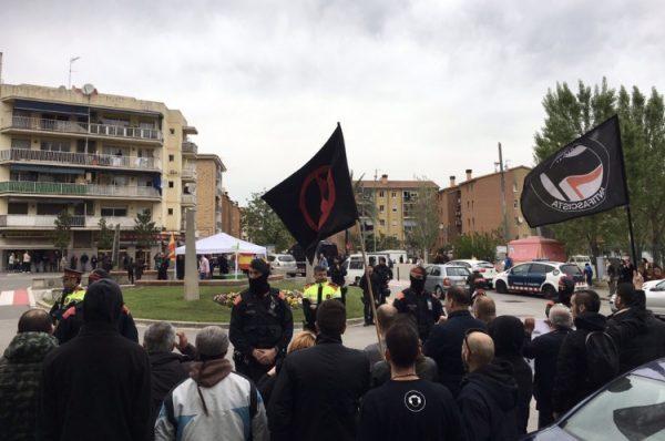 La bustia manifestacio antifeixista