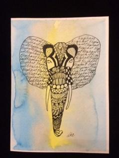 Card Elephant Head LR