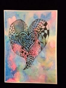 Card Single Heart LR
