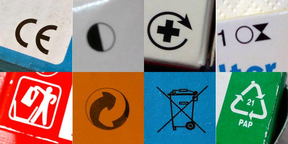 ¿Qué significan los símbolos de los envases?