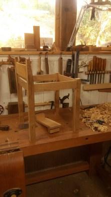 La silla va tomando forma