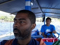 On the boat to the volcano