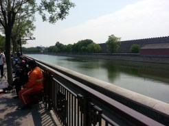 A view of the moat surrounding the Forbidden City