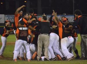 Los Brujos de Guayama celebran su pase a la Final del Béisbol Doble A.