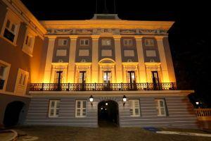 El Palacio de Santa Catalina, en ocasión del Día Nacional de la Prevención del Suicidio.