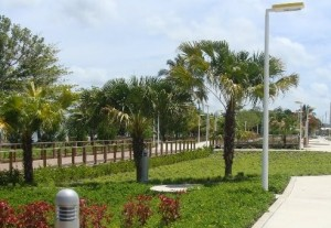 """Vista parcial del Parque del Litoral Israel """"Shorty"""" Castro."""