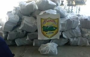 Cargamento de cocaína ocupado frente a las costas de Ponce (Suministrada Policía).