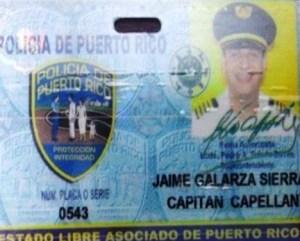 Identificación del ahora excapellán Jaime Galarza Sierra (Suministrada Policía).