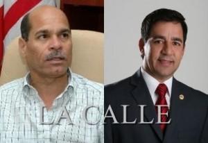 """A la izquierda, el alcalde Enrique """"Kike"""" Questell, y a su lado el representante José """"Pito"""" Torres (Fotomontaje LA CALLE)."""