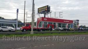 Vista de la escena del accidente (Foto Radio CB React Mayagüez).