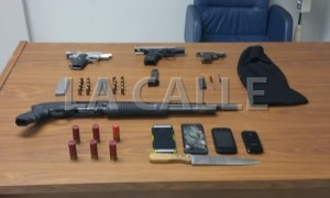 Armas confiscadas por los agentes esta mañana (Suministrada Policía).