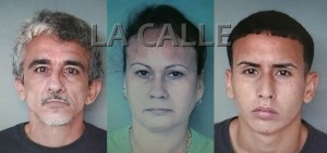 De izquierda a derecha, Wilson Torres Rodríguez, Maribel Lamboy Valentín y su hijo Joel Torres Lamboy (Suministrada Policía).