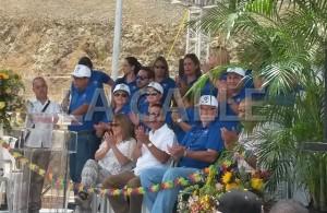 Momento en que se efectuó la ceremonia protocolar de inauguración del parque acuático Surf 'N Fun de San Germán (Foto LA CALLE Digital).