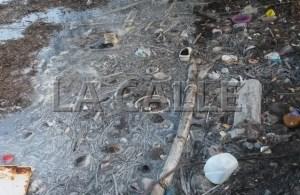 Acumulación indiscriminada de basura en el área del malecón del sector Guaypao de Guánica (Foto Julio Víctor Ramírez, hijo).