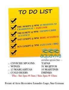 Aquaviva weekend 11-13 sept