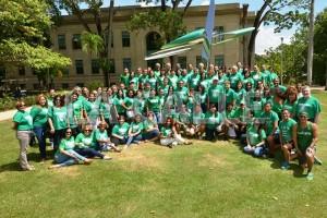 El Recinto Universitario de Mayagüez (RUM) celebró por primera vez en su historia el Día de la Sangre Verde, como preámbulo al RUMEncuentro Colegial 2015 (Suministrada).