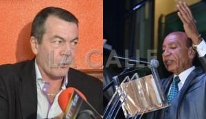 A la izquierda, el licenciado Hilton García fue atacado por el alcalde de Aguadilla, Carlos Méndez (Fotocomposición LA CALLE Digital).