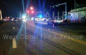 Escena del asesinato ocurrido el jueves en la noche en Mayagüez (Suministrada por West Coast Fire & Rescue).