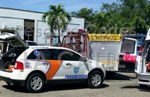 El vendedor ambulante sufrió quemaduras en el rostro y los brazos (Foto Facebook Rescate Cortés).