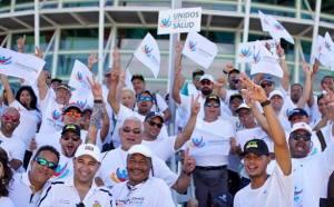 """Algunos de los participantes de la marcha """"Unidos por la Salud"""" (Facebook)."""