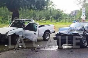 Escena del accidente ocurrido en Añasco (Foto Rescate Cortés).