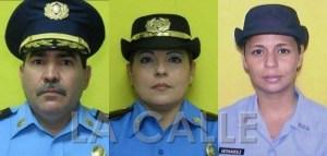 Las víctimas de la masacre en la Comandancia de Policía de Ponce. En el orden acostumbrado, el comandante Frank Román, la teniente Luz Soto Segarra y la agente Rosario Hernández De Hoyos (Suministradas).