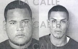 """Fotos de las fichas de Steven Pérez Laboy y Gabriel Morales, alias """"Bemba"""" (Suministradas Policía)."""