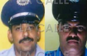 A la izquierda, el sargento Mario Rosario Vargas y a su lado el agente Miguel Rivera Santos (Suministradas Policía).