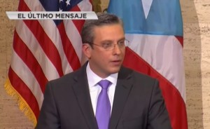 El gobernador Alejandro García Padilla en su último Mensaje de Estado de Situación de Puerto Rico (Captura de pantalla Telemundo).
