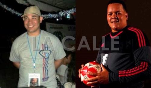 A la izquierda, el director de Obras Públicas del Municipio de Guánica, Jonathan Ruiz Ramos y Antonio Morales Velázquez (Fotos Facebook).