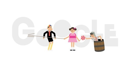 Arte de Google conmemorando el 45 aniversario de El Chavo del 8 (Internet).