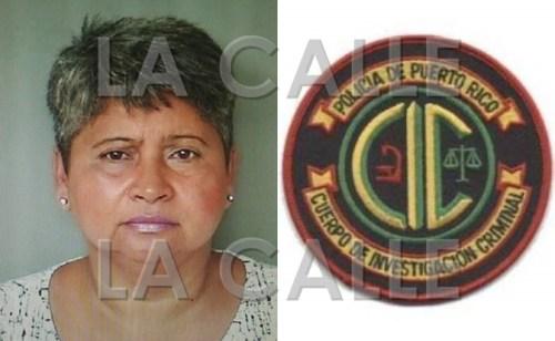 Foto de la ficha de Amalia Belén Rosado (Suministrada Policía)/