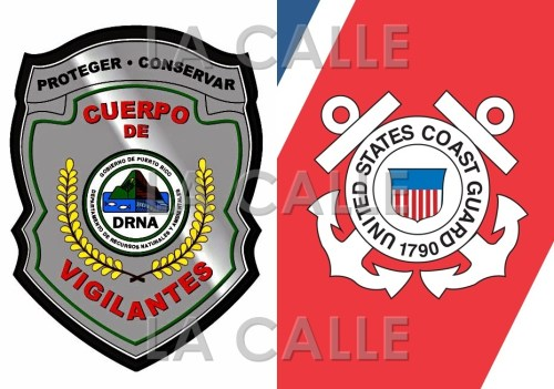 Efectivos del Cuerpo de Vigilantes y del Coast Guard trataban de localizar al indocumentado desaparecido.