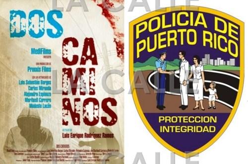 Afiche de la película Dos Caminos, que se está filmando en Mayagüez.