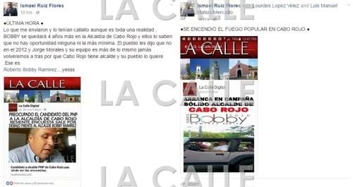 Dos ejemplos de titulares falsificados atribuidos LA CALLE Digital y que nunca fueron publicados por nuestro medio(Captura de pantalla).