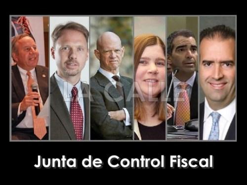 Los miembros de la Junta de Control Fiscal.
