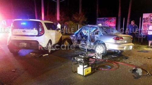 Escena del accidente ocurrido en la antigua Base Ramey (Foto Rescate Cortés).