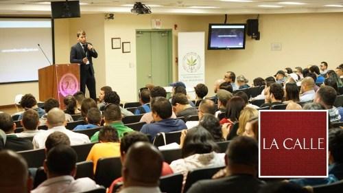Parte de la actividad sobre el Cannabis medicinal que tuvo lugar en el RUM (Suministrada).