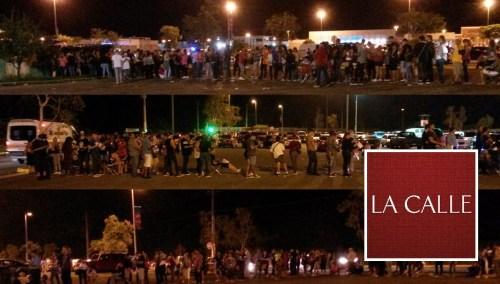 Cientos de personas esperaban por la apertura de la tienda Walmart del Mayagüez Mall, durante las ventas del Viernes Negro (Fotos LA CALLE Digital/Julio Víctor Ramírez, hijo).
