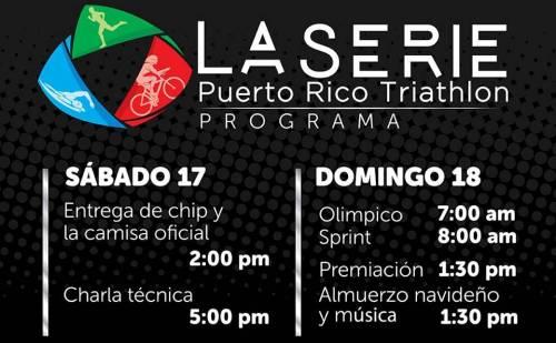Programa oficial del trialo de este domingo en El Litoral de Mayagüez.