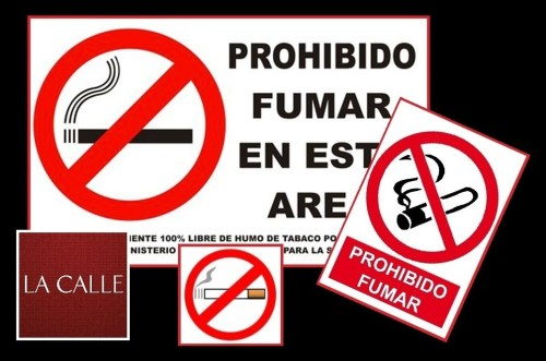 prohibido fumar fondo negro logo