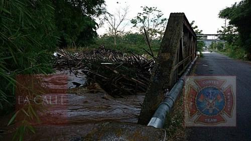El río Culebrinas está fuera de su cauce, lo que ha provocado inundaciones en la carretera 115 de Aguada (Foto/Rescate Cortés).