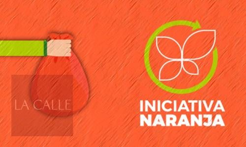 """Logo del programa de """"bolsas anaranjadas"""", Iniciativa Naranja (Fuente/Internet)."""