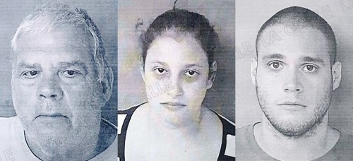 """Guillermo """"Zasquach"""" Cummings Irizarry, Yamaris Lugo Rivera y Guillermo Cummings Vélez, ahora enfrentan juicio por la muerte de Maritza."""