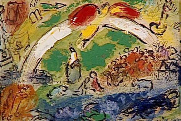 Marc Chagall, Noah und der Regenbogen, ca. 1963