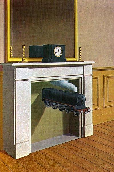 Magritte René - La Durée (zu Jacques Lacan und Roman Jakobson über Metapher und Metonymie)